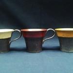 3色の珈琲カップ